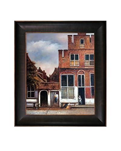 "Johannes Vermeer ""Little Street"" Framed Hand-Painted Reproduction"