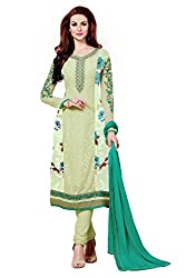 Shaily Retails Women's Green Unstiched Dress material