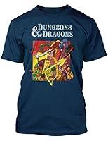 Dungeons & Dragons Retro Cartoon TV style t-shirt Navy