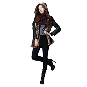 Simplicity New Style Winter Women Coat Jacket Fur Liner Long Zipper Outerwear