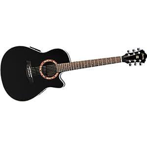 ibanez aef18e acoustic electric guitar black musical instruments. Black Bedroom Furniture Sets. Home Design Ideas