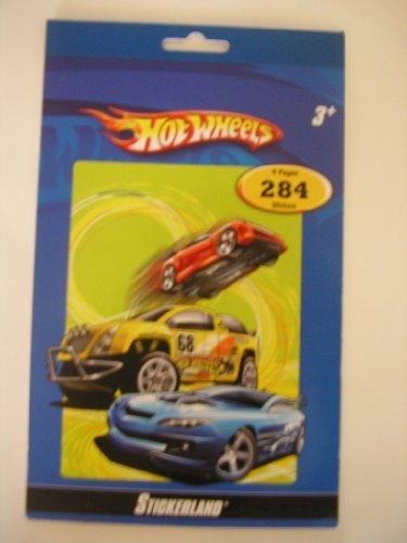 Hot Wheels Sticker Book ~ 284 Stickers