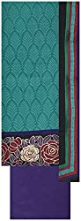 Laxmi Creations Women's Silk Unstitched Dress Material (Rama Green)