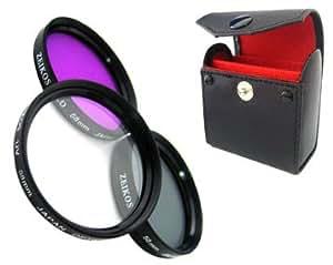 Zeikos ZE-FLK58 Multi-couche 58 mm Kit 3 filtres (UV, CPL, FLD)