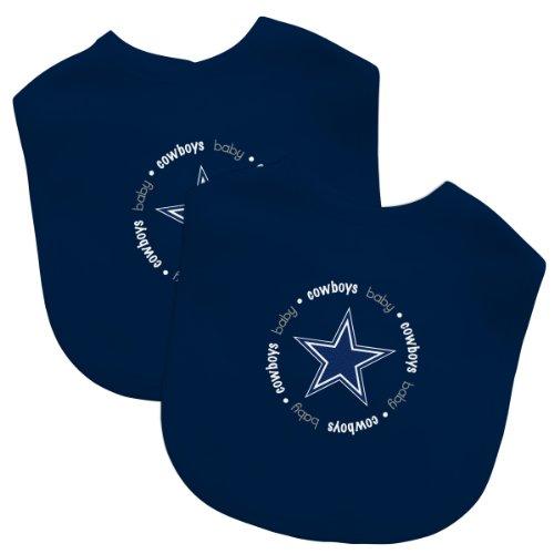 Nfl Dallas Cowboys Football Baby Bibs - Set Of 2