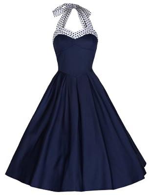 Lindy Bop Women's 'Carola' Vintage 1950's Rockabilly Halter Neck Swing Dress