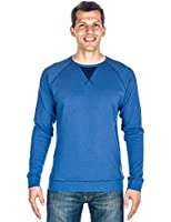 Noble Mount Mens Solid Thermal Long Sleeve T-shirt - with Contrast Stitching