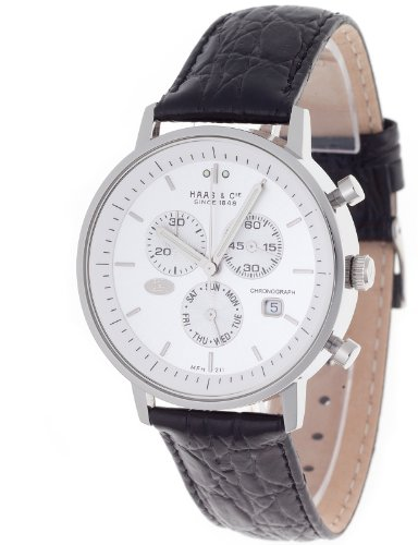 Haas & Cie. Chronograph Vitesse Silver Gents Watch MFH211ZSA