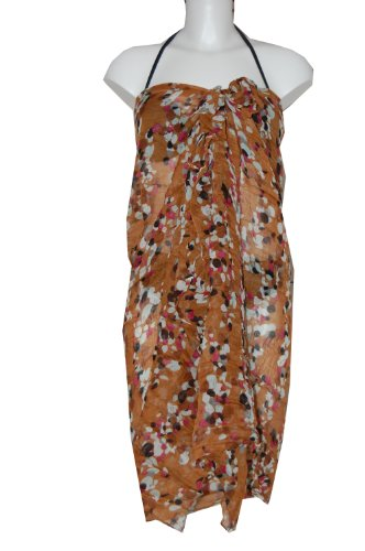 Tamari Confetti Print Womens Sarong Cover Up Beach Wrap Dress One Size