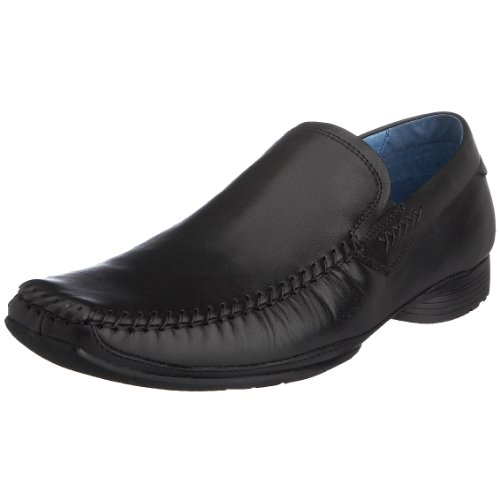 Hush Puppies Men's Flynn Black Leather Loafer H12886000 9 UK