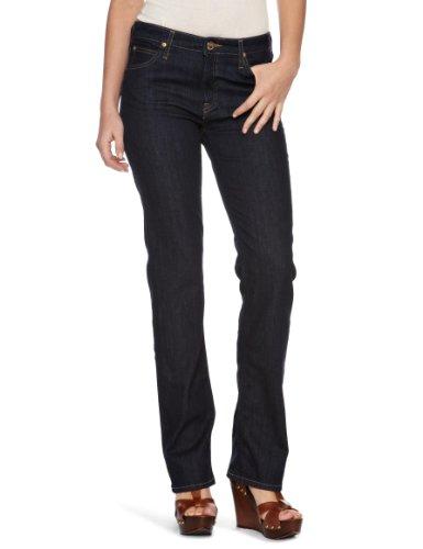 lee damen jeans hoher bund l301ogcx marion straight solid blue gr 32 33 blau solid blue. Black Bedroom Furniture Sets. Home Design Ideas