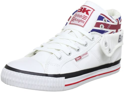 British Knights ROCO UNION JACK B30-3798, Sneaker unisex adulto, Bianco (Weiß (white multi 1)), 43
