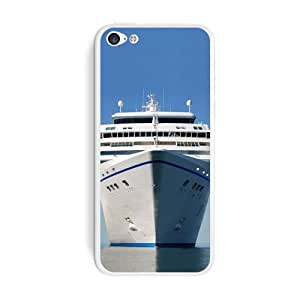 Graphics and More Cruise Ship On Ocean - Vacation Protective Skin Sticker Case for Apple iPhone 5C - Set of 2 - Non-Retail Packaging - Opaque