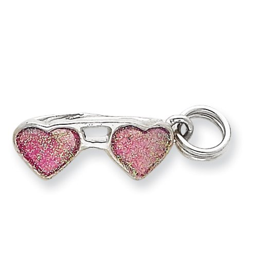 Sterling Silver Pink Sunglasses Charm