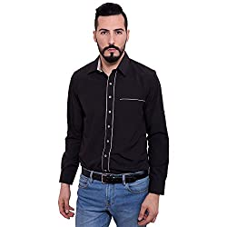 FBBIC Men's Simple Cotton Shirt