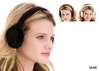 Brown Moleskin & Faux Fur Ear Muffs GL428