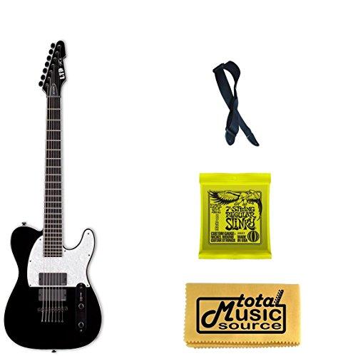 Esp Ltd Sct-607B Stephen Carpenter Baritone Guitar, Strap, Strings, Polish Cloth