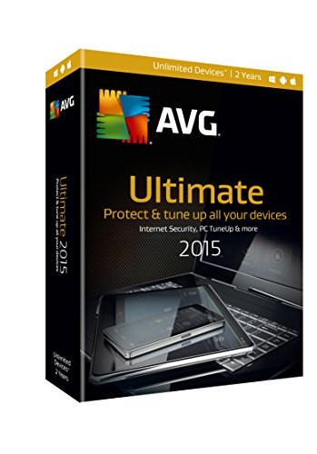AVG ULTIMATE 2015, 2 YEARS  (Unlimited Users) (Avg Antivirus Software compare prices)