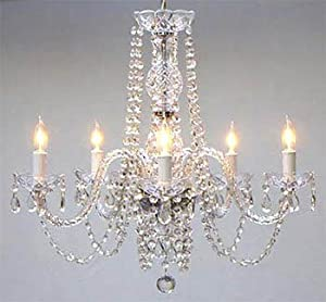 Authentic All Crystal Chandeliers H25 X W24