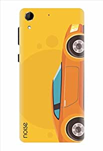 Noise Happy Car Yellow Printed Cover for HTC Desire 728G Dual Sim