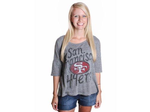 adde2f77 Zelda: Junk Food Women's Gameday San Francisco 49ers Shirt Steel ...
