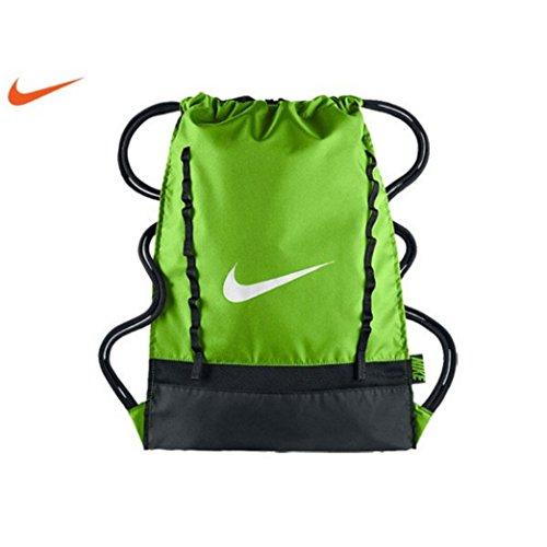 Nike Brasilia 7 Gymsack Backpack (Electro Green with Signature White Swoosh)