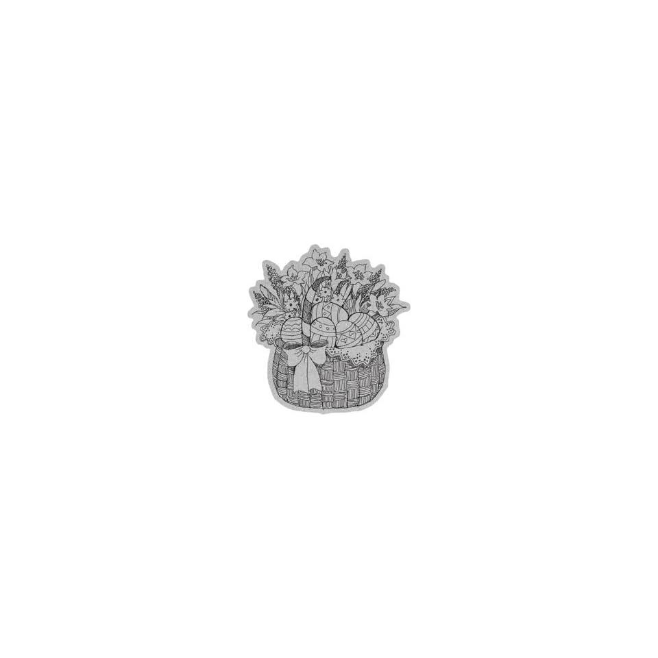 Penny Black Cling Rubber Stamp 4X5.25 Easter Basket