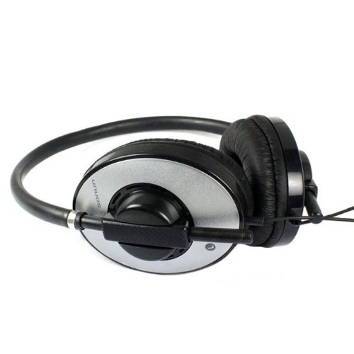 Bestpriceam 3.5Mm Powerful Bass Noise Reduction Microphone Headset For Pc Msn Skype (Sliver)