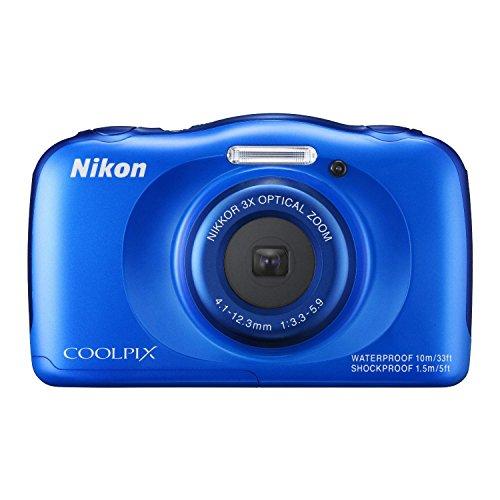 Nikon COOLPIX S33 Waterproof Digital Camera (Blue)