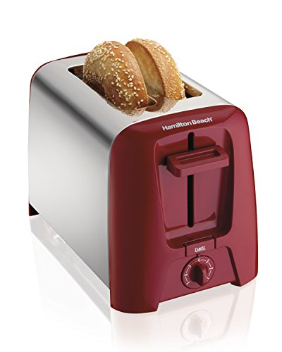 Find Cheap Hamilton Beach 22623 Cool Wall 2-Slice Toaster, Red