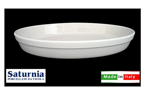 Roma Porcell. Plat Ovale Blanc 36 Cm