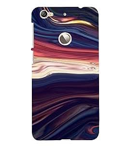 PrintVisa Colorful Wave Design 3D Hard Polycarbonate Designer Back Case Cover for LeEco Le 1S