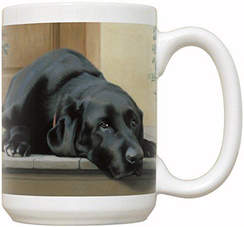 Black Labrador Retriever Coffee Mug with Quote