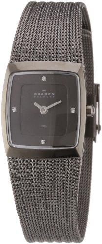 Skagen Ladies Watch 380XSMMM1 with Grey Stainless Steel Bracelet and Grey Dial