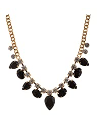 Mask Fashions Gold Metal Crystal Necklace For Women