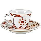 砥部焼 梅山窯 そばちょこ型コーヒー(赤太陽)