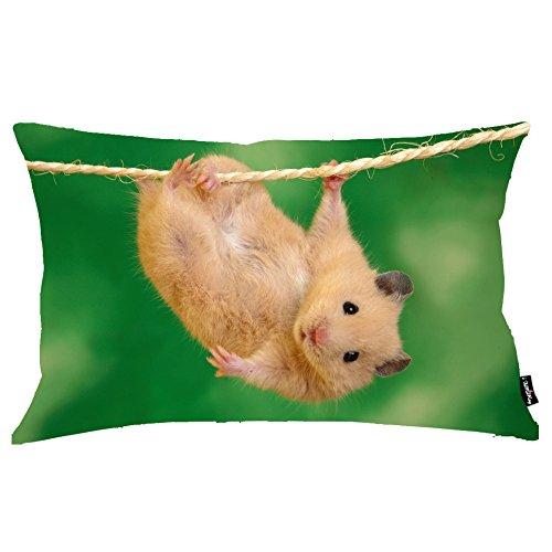 i FaMuRay Animals Funny Hamsters RopesFedera Cuscino, 20x36 inches