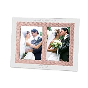 personalized aegean rose double 5x7 wedding invitation picture frame