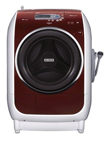 HITACHI うれしい仕上がりビッグドラム ドラム式洗濯乾燥機 ガーネット BD-V1-R