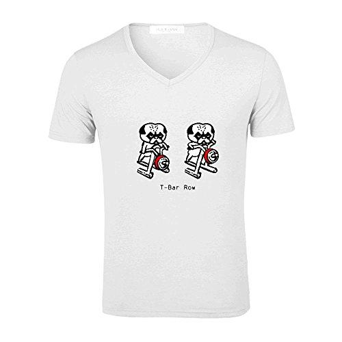 pugs-gym-bcak-men-v-neck-print-t-shirt-white