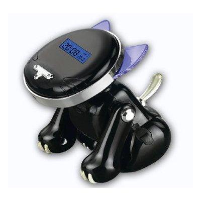 iBRIGHT LLC Talking Kitten Cat Shape Talking Alarm Clock - Black