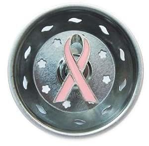 Breast Cancer Pink Ribbon Kitchen Sink Strainer Drain