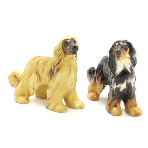 Afghan Hound collectibles - salt and pepper shakers