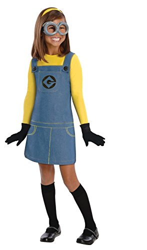 Despicable Me 2 Deluxe Girls Minion Costume, Medium