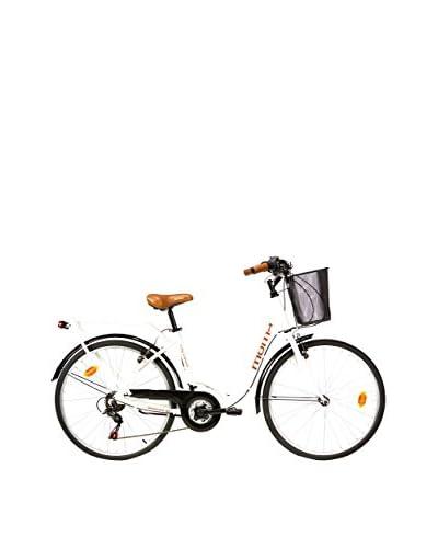 MOMA BIKES Bicicleta 28 Alu 18V City Classic Blanco