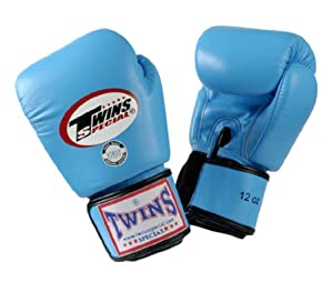 Buy Twins Special Muay Thai Boxing Gloves BGVL-3 Light Blue 16oz by Twins Special