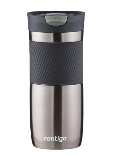 Contigo SnapSeal Vacuum-Insulated Stainless Steel Travel Mug, 16-Ounce, Gunmetal