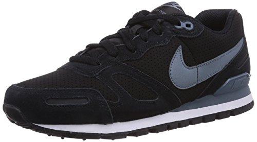 Nike Air Waffle Trainer Leather, Herren Sneakers, Schwarz (Black/Blue Graphite-White), 47.5 EU (12 Herren UK)