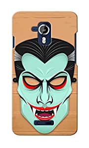 KnapCase Abstract Monster Face Designer 3D Printed Case Cover For Micromax Canvas Magnus A117