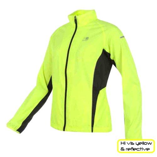 Hi Viz Sports Jacket for Women by Karrimor. Yellow and